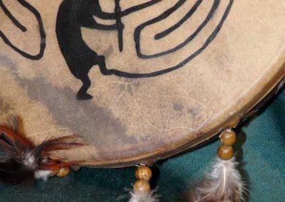 tambour sacré: joueur de flûte de Kokopelli