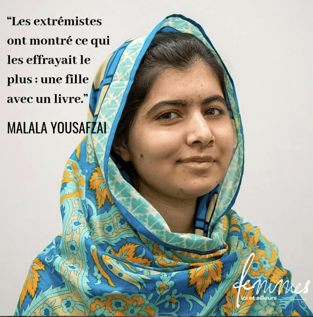 Malala Yousafzai: portrait de femme agissante dans la revue Femmes ici et ailleurs