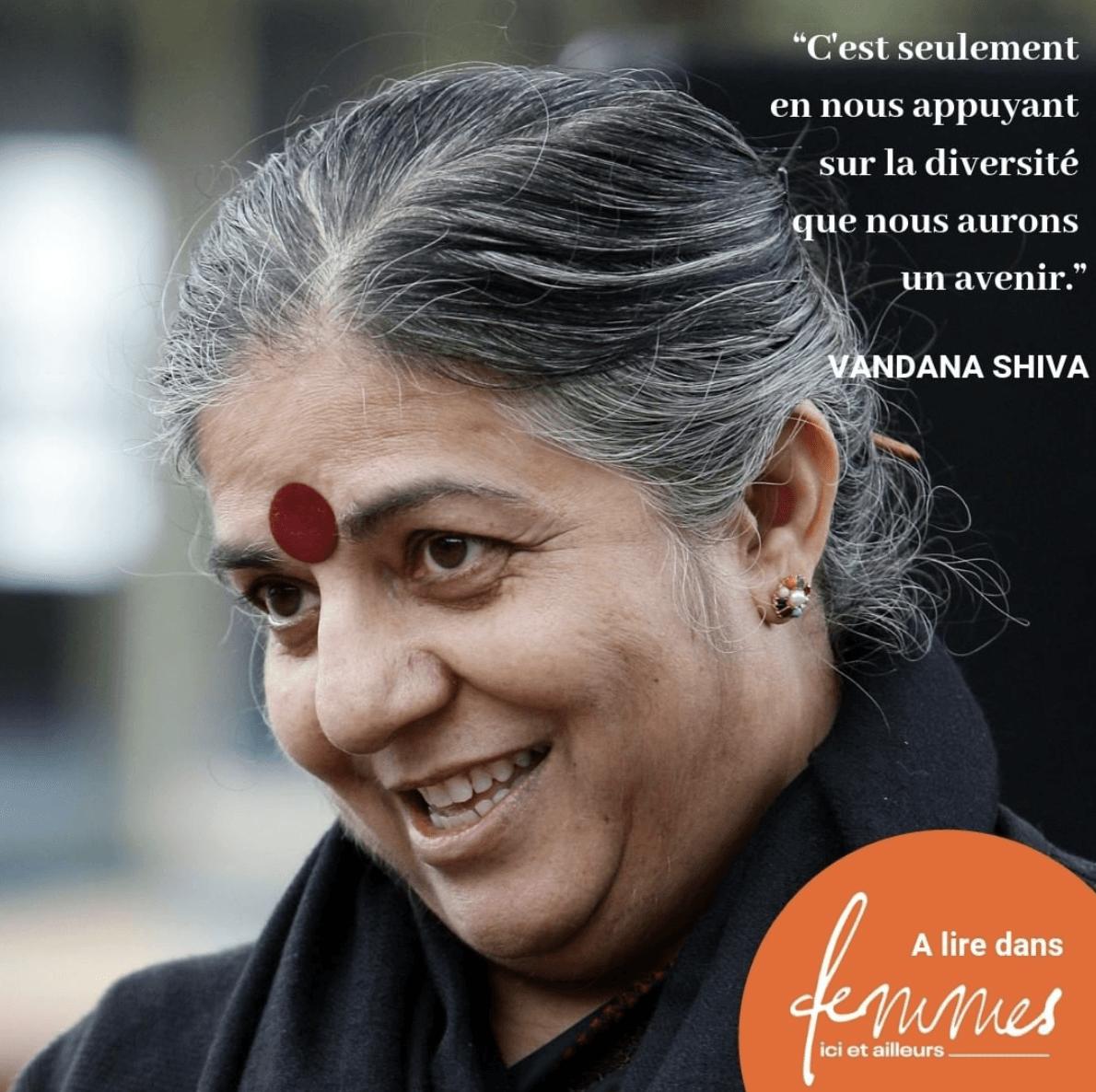 Vandana Shiva: portrait de femme agissante dans la revue Femmes ici et ailleurs
