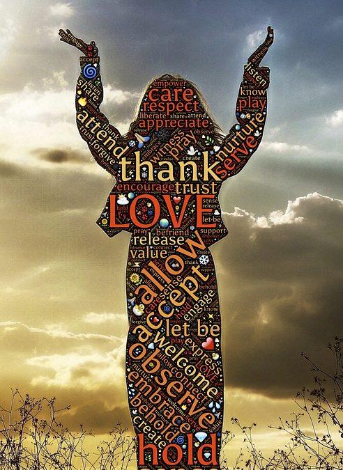 dessin gratitude nuage de mots